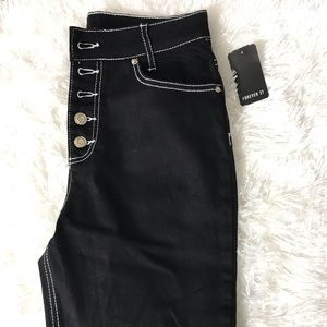 Forever 21 high waisted black pants NEW